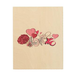 Love Illustration Wood Wall Decor