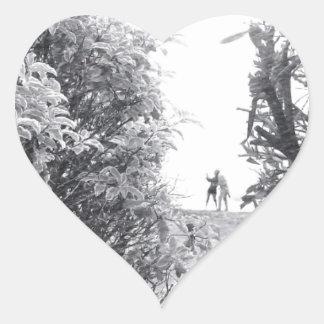 Love in a photo heart sticker