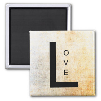 Love in Black Letters Square Magnet