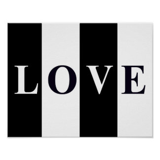 LOVE IN BLACK & WHITE Wall Room Print Decor