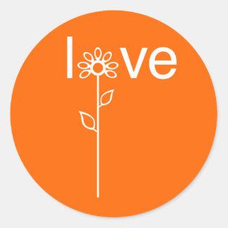 Love in Bloom Customizeable Round Sticker