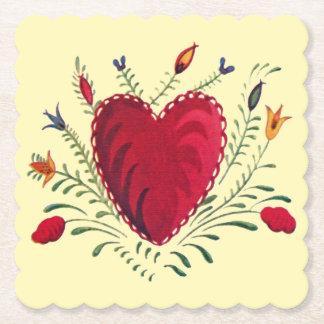 Love in Bloom Paper Coaster