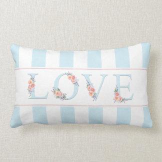 Love in Bloom Pastel Stripes Lumbar Cushion