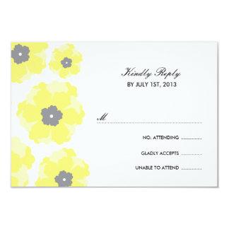 Love in Bloom RSVP Cards 9 Cm X 13 Cm Invitation Card