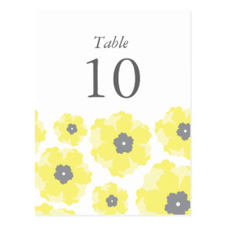 Love in Bloom Table Numbers Postcard