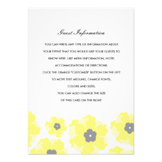 Love in Bloom Wedding Insert Invite