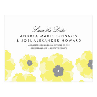 Love in Bloom Wedding Save the Date Postcard
