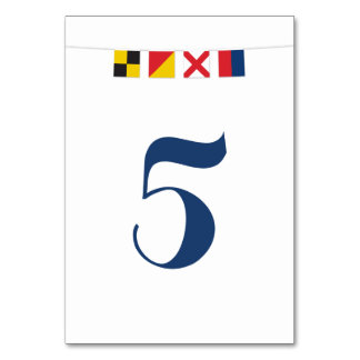 LOVE in Colorful Nautical Flags Card