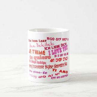 love in different languages coffee mug