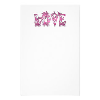 Love ( in flowers font ) stationery