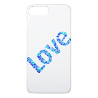 Love In Hearts Bold Bright & Vivid | Blue iPhone 8 Plus/7 Plus Case