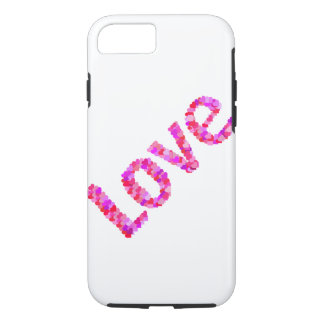 Love In Hearts Vivid & Bright | Pink, Red, Purple iPhone 8/7 Case