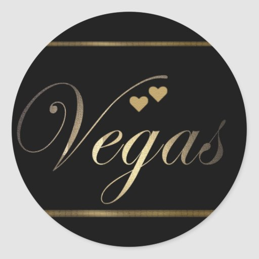 Love in Las Vegas Round Sticker