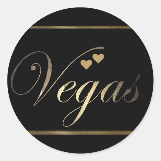 Love in Las Vegas Round Sticker