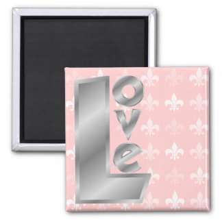 Love in Letters Square Magnet