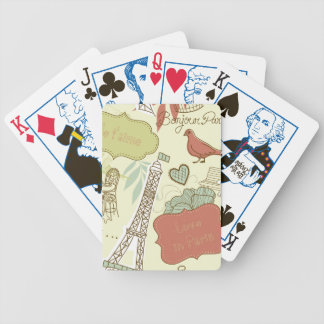 Love in Paris Pattern Bicycle Playing Cards