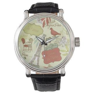 Love in Paris Pattern Watch