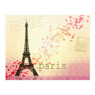 Love in Paris Postcard