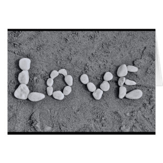 Love in Pebbles Card
