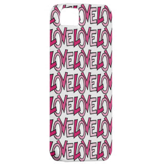 LOVE in Pink Captialized Letters iPhone 5 Cover
