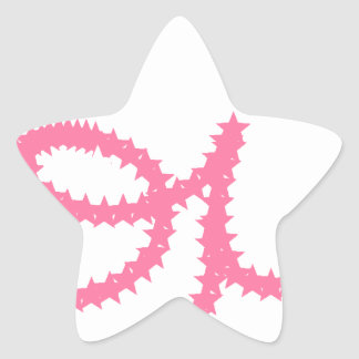 Love in Pink Star Sticker