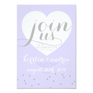 Love in shades of periwinkle! 9 cm x 13 cm invitation card