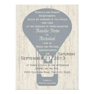 Love in the Air Balloon Wedding 14 Cm X 19 Cm Invitation Card