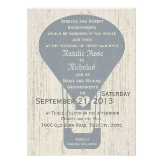 Love in the Air Balloon Wedding Personalized Invite