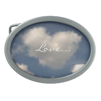 Love in the Air Oval Belt Buckle