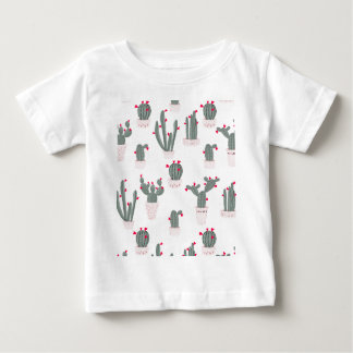 Love in the Desert Cacti Pattern Baby T-Shirt