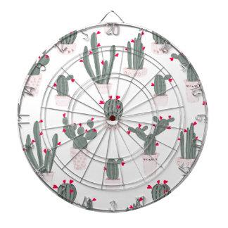 Love in the Desert Cacti Pattern Dartboard
