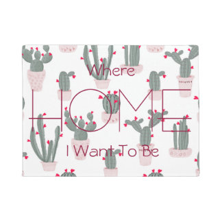 Love in the Desert Cacti Pattern Doormat