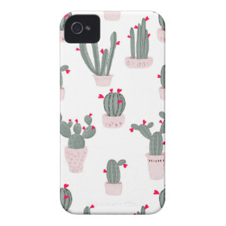 Love in the Desert Cacti Pattern iPhone 4 Cover