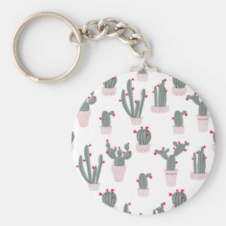 Love in the Desert Cacti Pattern Key Ring