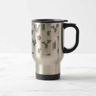 Love in the Desert Cacti Pattern Travel Mug