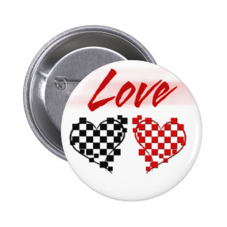Love in the fast lane -for Nascar fans Pinback Buttons