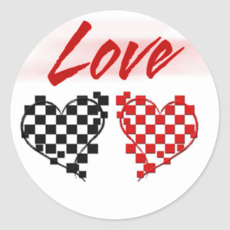 Love in the fast lane -for Nascar fans Round Stickers