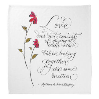 Love in the same direction typography quote kerchief