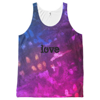 love Inked grunge All-Over Print Singlet