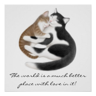 Love Inspirational Cats Print
