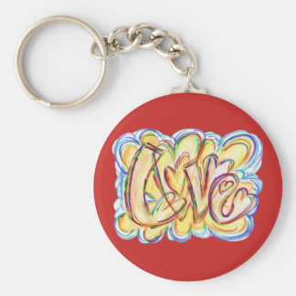 Love Inspirational Word Art Custom Key chains