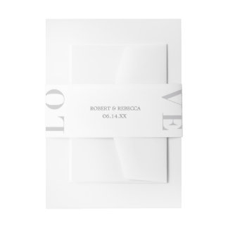 Love Invitation Belly Band