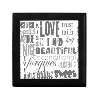 Love is 1 Corithians 13 Small Square Gift Box
