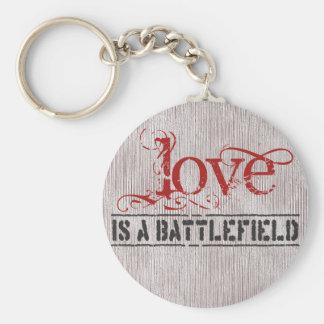 LOVE IS A BATTLEFIELD KEY RING