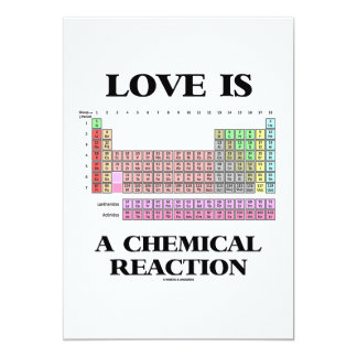 Love Is A Chemical Reaction (Periodic Table) Card