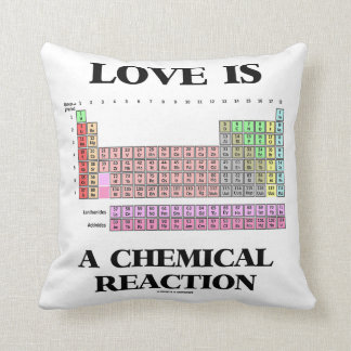 Love Is A Chemical Reaction (Periodic Table) Cushion