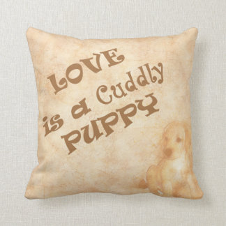 Love is a Cuddly Puppy Cushion