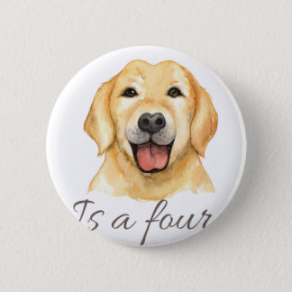 Love is a four legged word 6 cm round badge