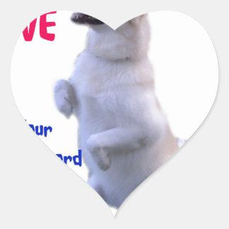 Love is a four legged word heart sticker
