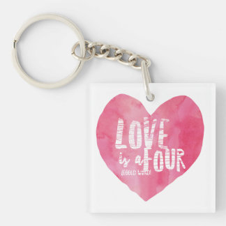 LOVE IS A FOUR LEGGED WORD KEY RING